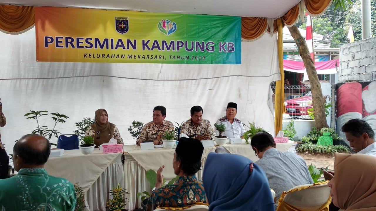 Peresmian Kampung KB Kelurahan Mekarsari
